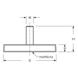 flachgreifer neodym 43 mm in gummi mit au engewinde m6x15. Black Bedroom Furniture Sets. Home Design Ideas