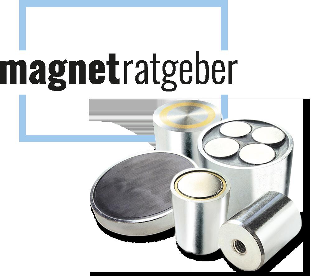 Magnetratgeberlogo mit verschiedenen Magneten von Bauer & Böcker Remcheid Deutschland